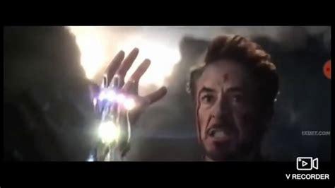 avengers endgame iron man tony stark snaps fingers