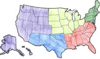 hopintolearning united states regions political map