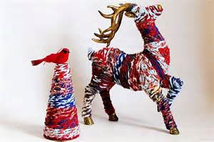 Recycled christmas reindeer anthropologie craft copycat crafts