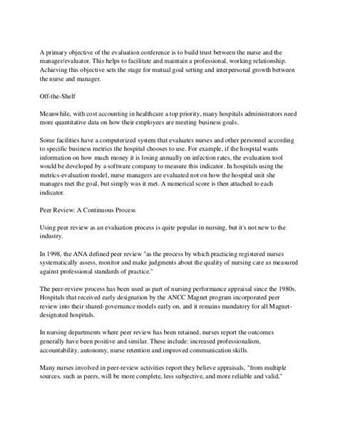 Evaluation Letter For Nurses performance appraisal nursing
