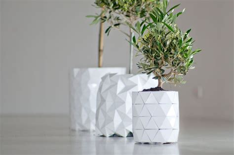 How To Make Paper Plant Pots - an origami vase that grows and changes with your plant