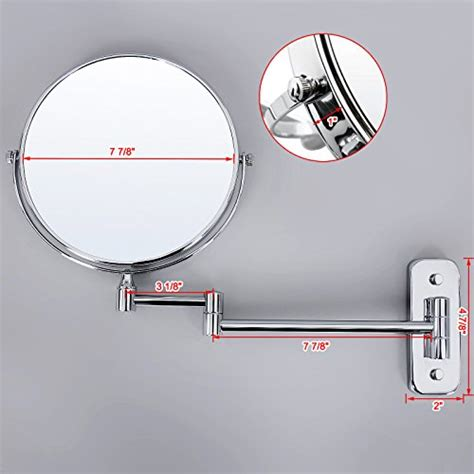 begrit bathroom makeup cosmetic mirror two sided wall songmics 7x magnifying wall mount makeup mirror 8 inch two