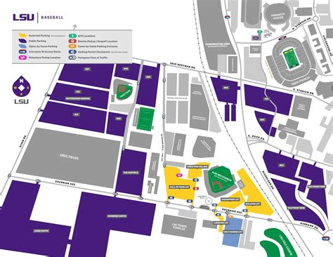 lsu football parking map lsu baseball parking information policies map