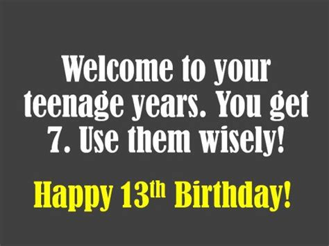 Happy 13th Birthday Quotes 13th Birthday Quotes Myideasbedroom Com