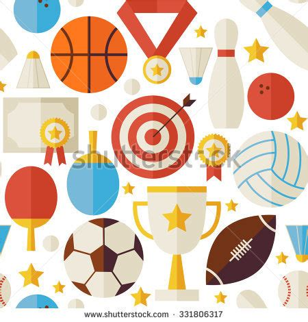 quiz contest pattern vector flat style sport recreation competition stock