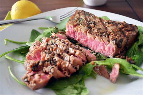 Steak Tuna tuna steak dinner recipe the idle
