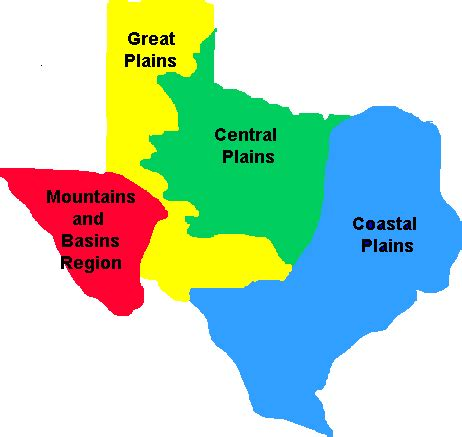 city map of texas by regions texas history