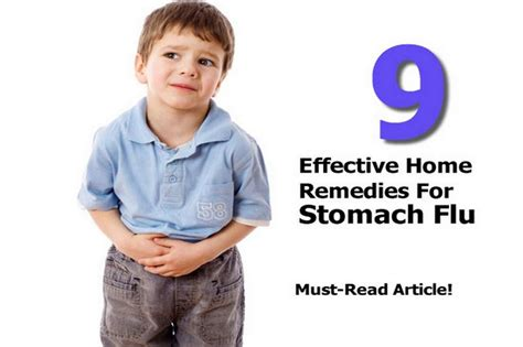 9 effective home remedies for stomach flu
