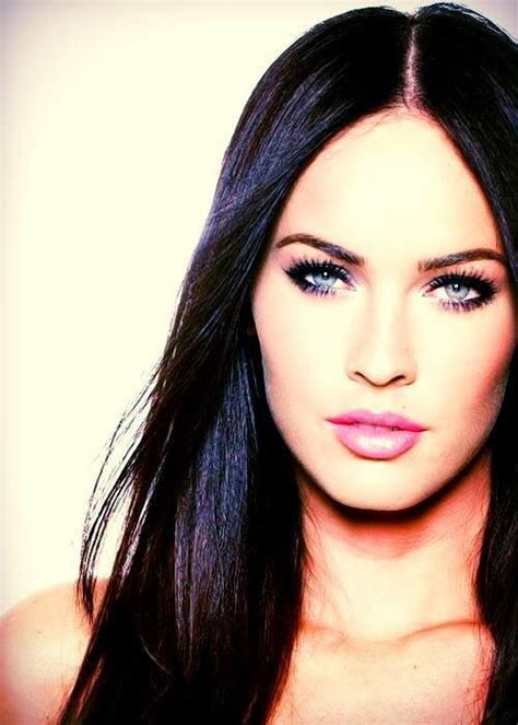 megan foxs makeup how to get her skin bold lip exact look megan fox she is so beautiful love her hair and makeup