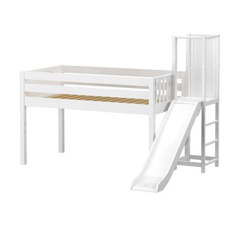 low loft bed with slide maxtrixkids hocus wp low loft bed with slide platform