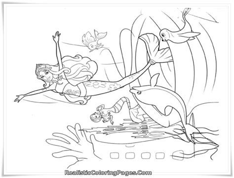 barbie in a mermaid tale printable girl coloring sheet