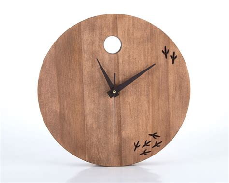 Handmade Wood Clocks - wooden clock unique handmade free shipping the bird has