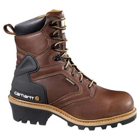 most comfortable logger boots carhartt mens 8 inch logger waterproof work boot boots