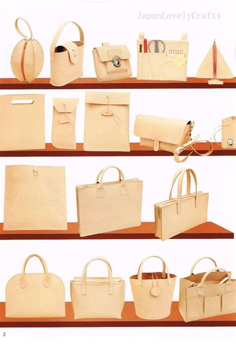 tote bag pattern books hand sewn leather bag pattern natural tanned leather