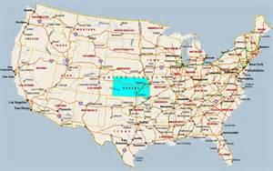 us map kansas state kansas usa map