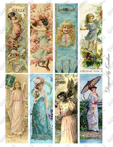printable victorian bookmarks victorian bookmarks digital bookmarks digital collage
