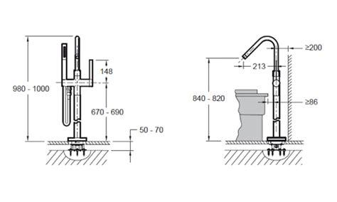 hauteur robinetterie baignoire pose robinet baignoire mitigeur thermostatique de