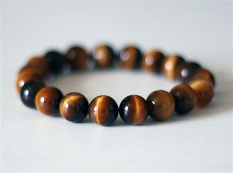 bead bracelets for guys mens beaded bracelet mens tigers eye bracelet womens by