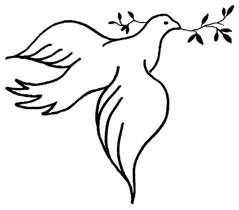 Holy Spirit Dove Outline by Dove Clip Images Clipart Best