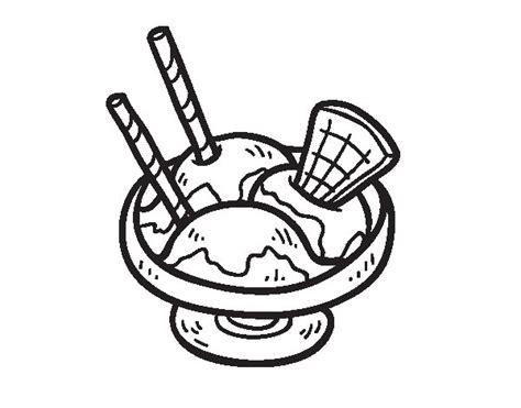 imagenes de helados kawaii para colorear dibujo de copa de helado para colorear dibujos net