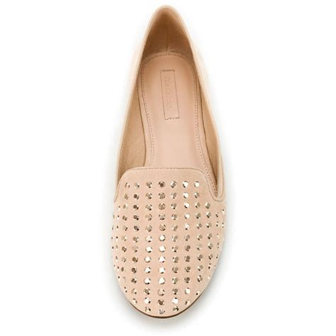 zara slipper shoes zara studded slipper liked on polyvore shoes