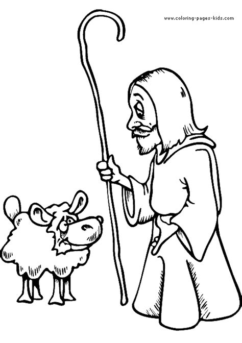 david the shepherd boy pages coloring pages