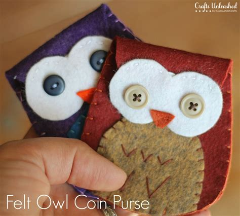 crafts with felt felt owl coin purse tutorial free pattern crafts unleashed