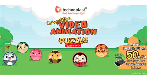 Animasi Set technoplast animation competition puzzle lunch set