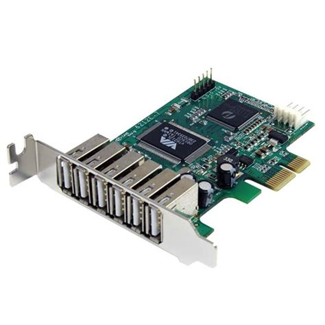 Usb Card Pci Express pcie usb card 7 port usb 2 0 low profile startech
