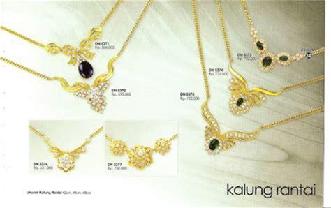 Rantai Kalung Lapis Emas 24karat zhulian perhiasan berlapis emas koleksi perhiasan