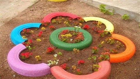garden decoration with tyres tyre gardening creative ideas for tyres