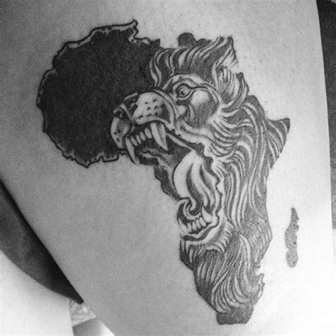 africa map tattoo designs angry map