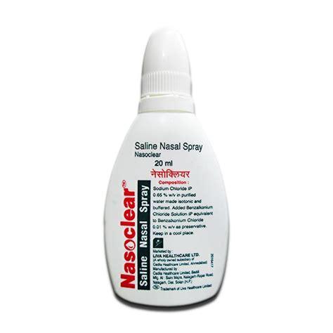 nasoclear nasal spray liva healthcare