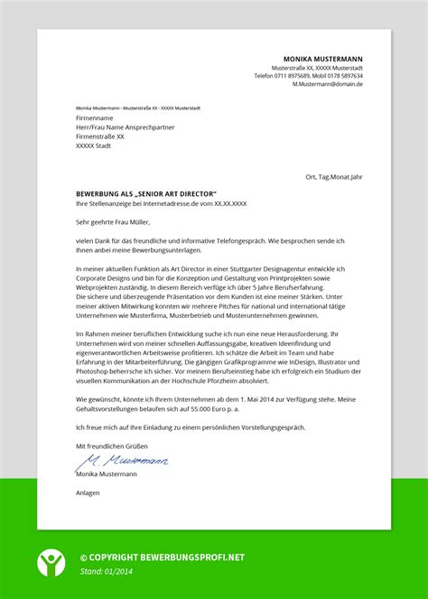 Anschreiben Bewerbung Muster 2015 Bewerbungsschreiben Muster Berufserfahrene Bewerbungsprofi Net