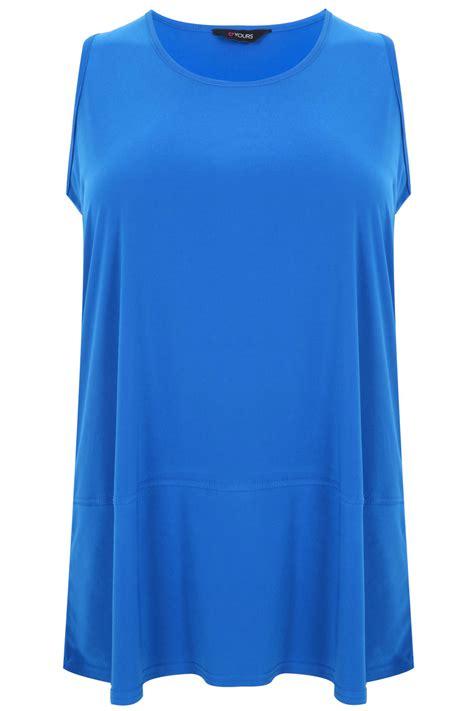 sleeveless swing top cobalt sleeveless swing top with seam detail plus size 16