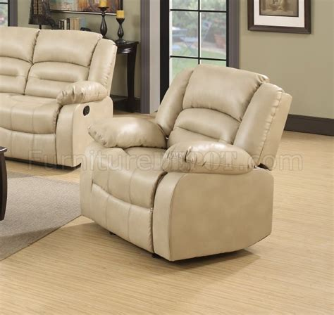 cream bonded leather sofa 9173 reclining sofa in cream bonded leather w options