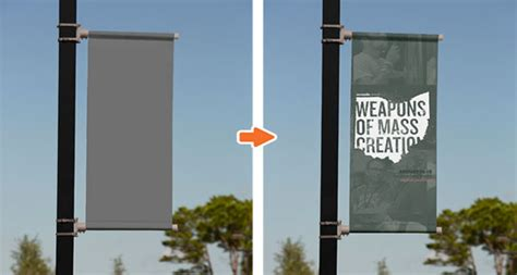 vinyl banner templates for photoshop outdoor mockup templates psd pack on behance