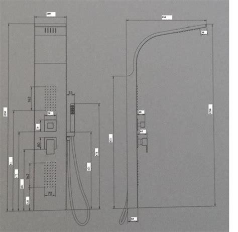 pannelli doccia idromassaggio pannello colonna doccia rubino acciaio inox spazzolato con