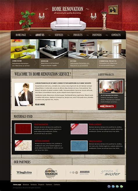 home renovation html website template best website templates