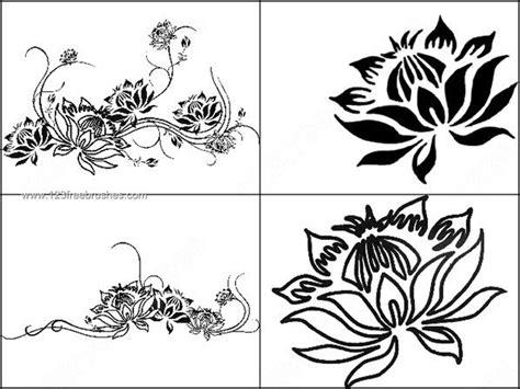 pattern brush photoshop cs2 4 lotus brushes for photoshop cs2 photoshop free brushes