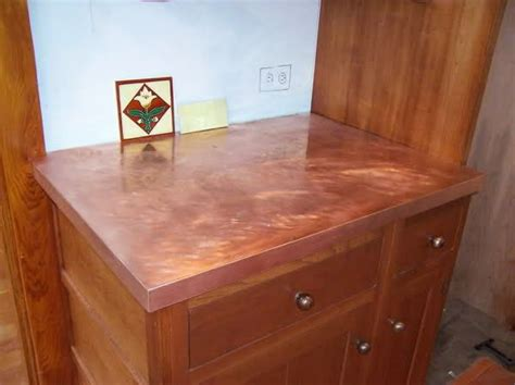 copper bar top cost diy copper countertops decor8 pinterest