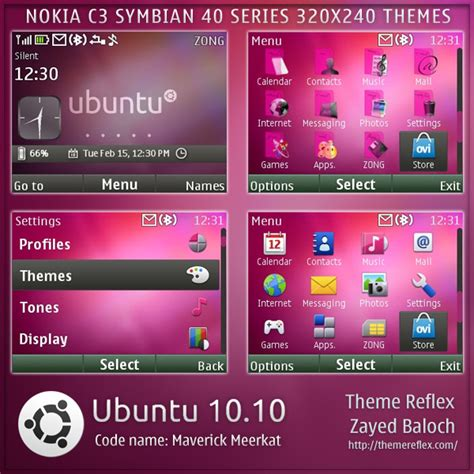 themes nokia x2 01 mobile9 ubuntu 10 10 theme for nokia c3 x2 01 themereflex
