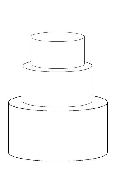 wedding cake template cake template on templates sketches
