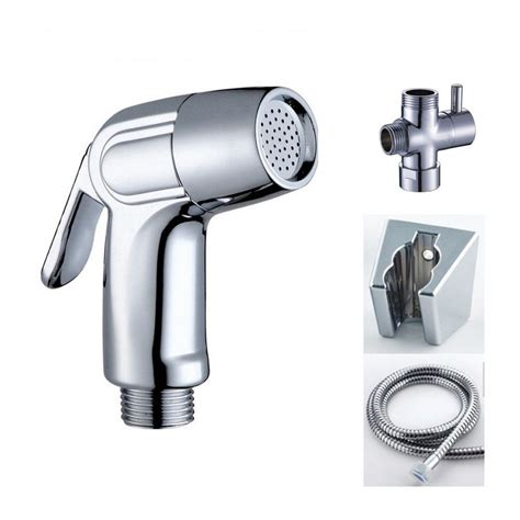 bidet kit brass 7 8 quot t adapter abs handheld bidet toilet shattaf kit