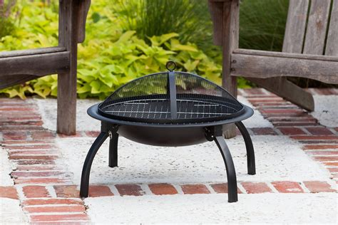 Steel Outdoor Pit Pit Folding 22 Quot Cing Rv Bonfire Gating Patio