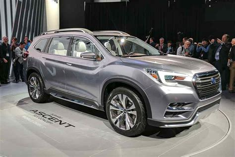 Subaru 7 Seater Suv by New York 2017 Subaru Ascent 7 Seat Suv Concept Premieres