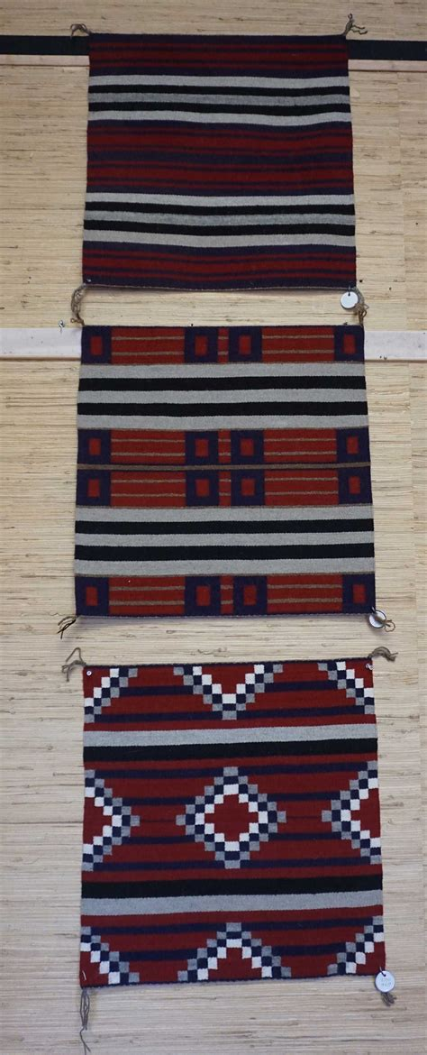 Three Small Sler First Second And Third Chief S Second Rugs For Sale