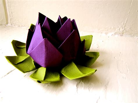 paper lotus purple and green wedding decor wedding bouquet home decorations event