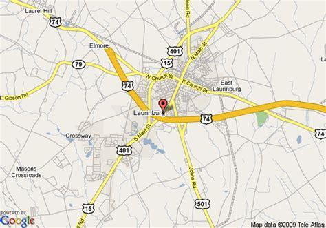 laurinburg carolina map map of inn express hotel suites laurinburg