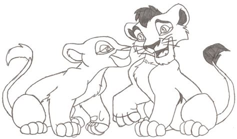lion king kovu and kiara coloring pages lion king coloring pages kovu